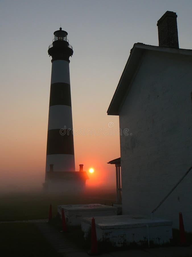Leuchtturm-Sonnenaufgang lizenzfreies stockbild