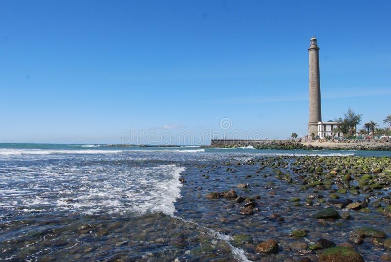 Leuchtturm vom Strand lizenzfreie stockfotografie