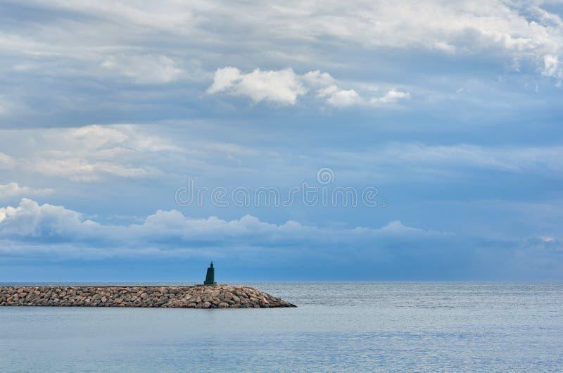 Leuchtturm von Aguadulce spanien lizenzfreies stockbild