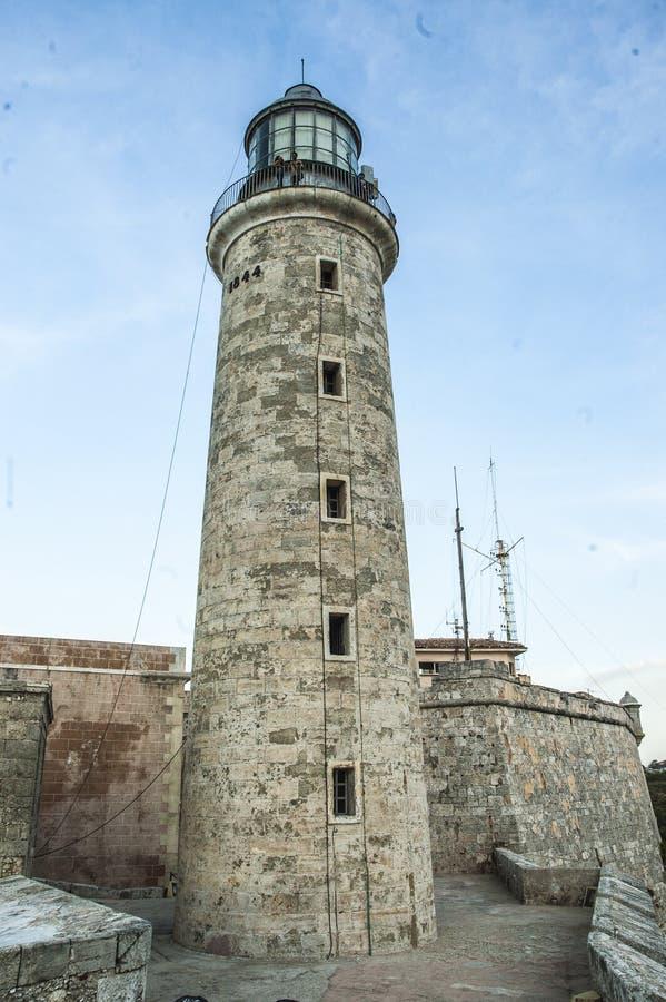 Leuchtturm von Havanna, Kuba El Morro stockbild