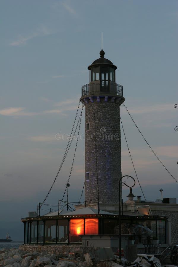 LEUCHTTURM VON PATRA, GRIECHENLAND lizenzfreies stockfoto
