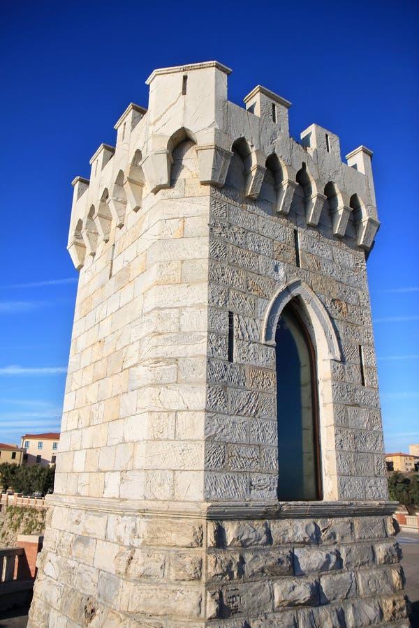Leuchtturm von Piombino in Toskana, Italien lizenzfreies stockbild