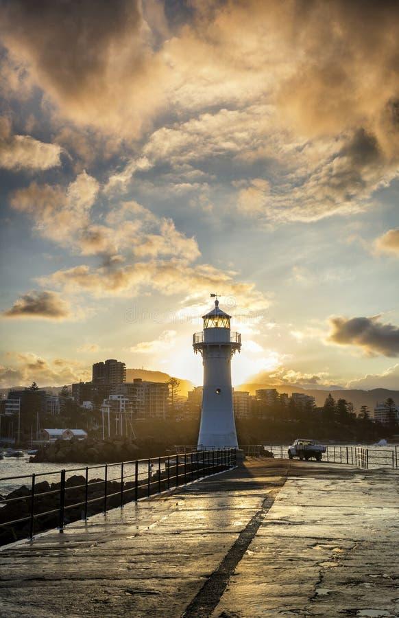 Leuchtturm in Wollongong Australien lizenzfreies stockfoto