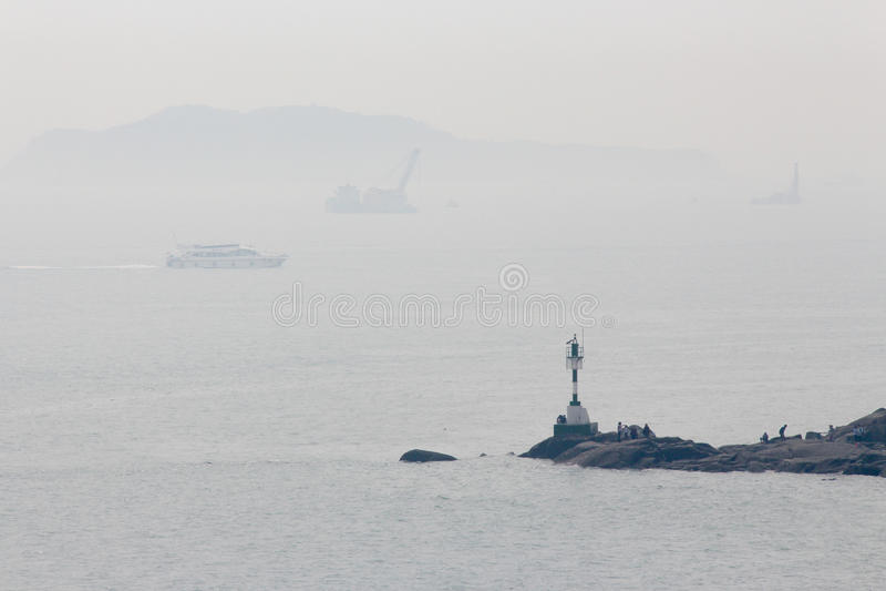 Leuchtturm in Xiamen-Stadt, China lizenzfreie stockbilder