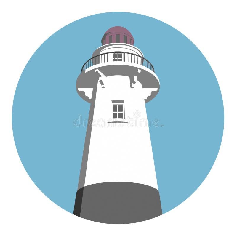 Leuchtturm-Zeichen stock abbildung