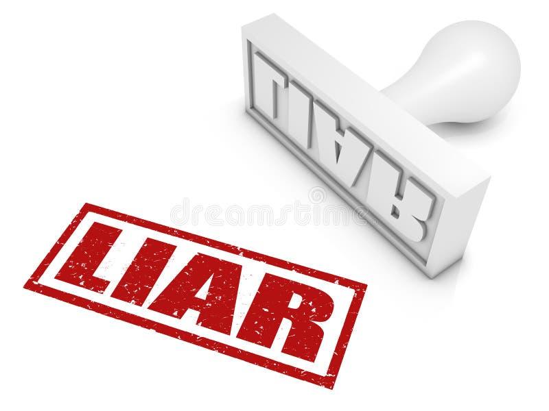 Leugenaar! royalty-vrije illustratie