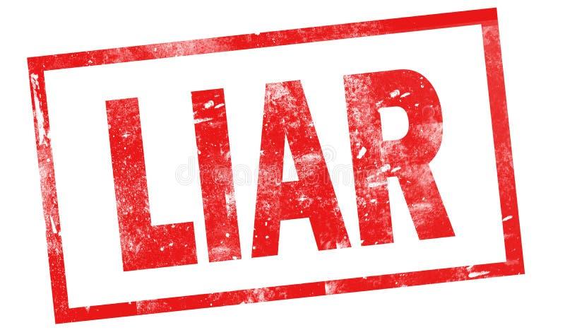 Leugenaar in rode inktzegel royalty-vrije illustratie