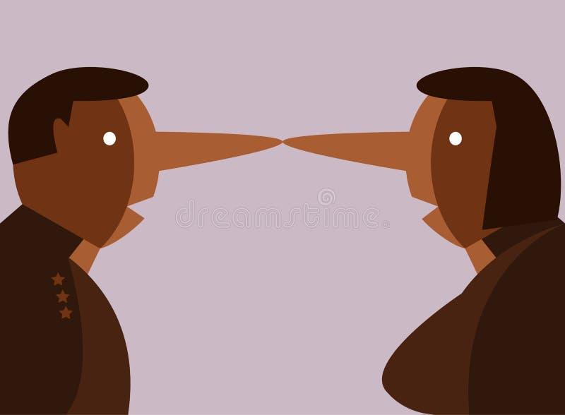 Leugenaarmensen vector illustratie