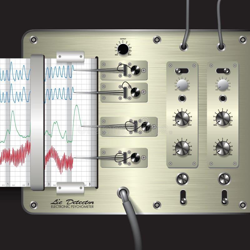 Leugendetector vector illustratie