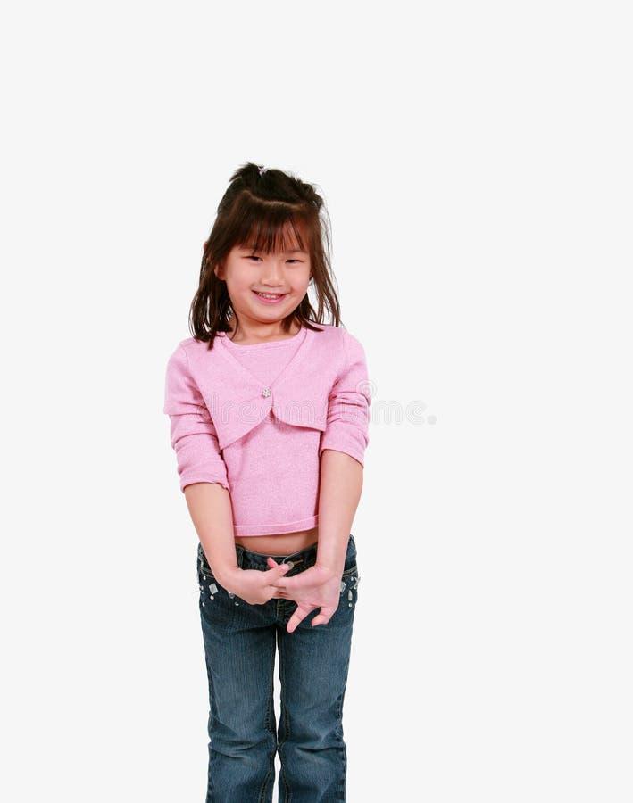 Leuk Aziatisch meisje stock afbeelding