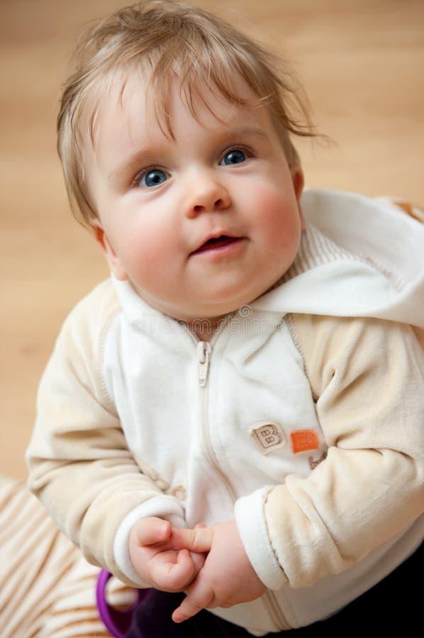 Leuk babymeisje royalty-vrije stock foto's