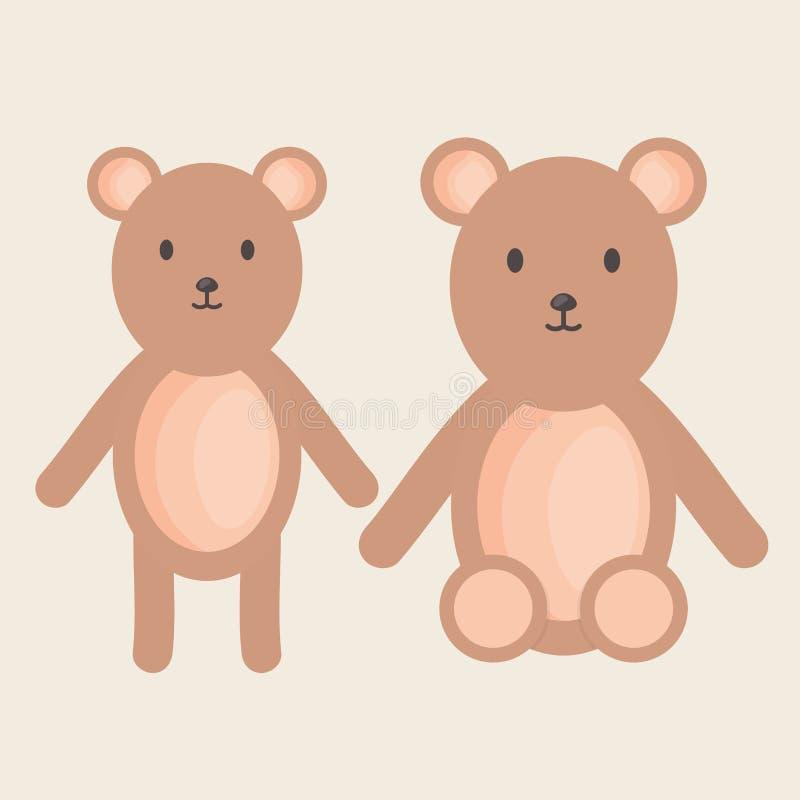 Leuk beren teddy gevuld speelgoed vector illustratie