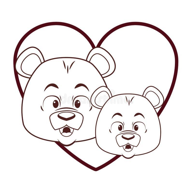 Leuk berenbeeldverhaal royalty-vrije illustratie