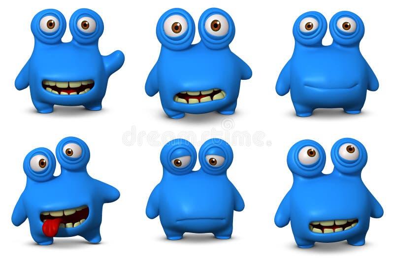 Leuk blauw insect stock illustratie