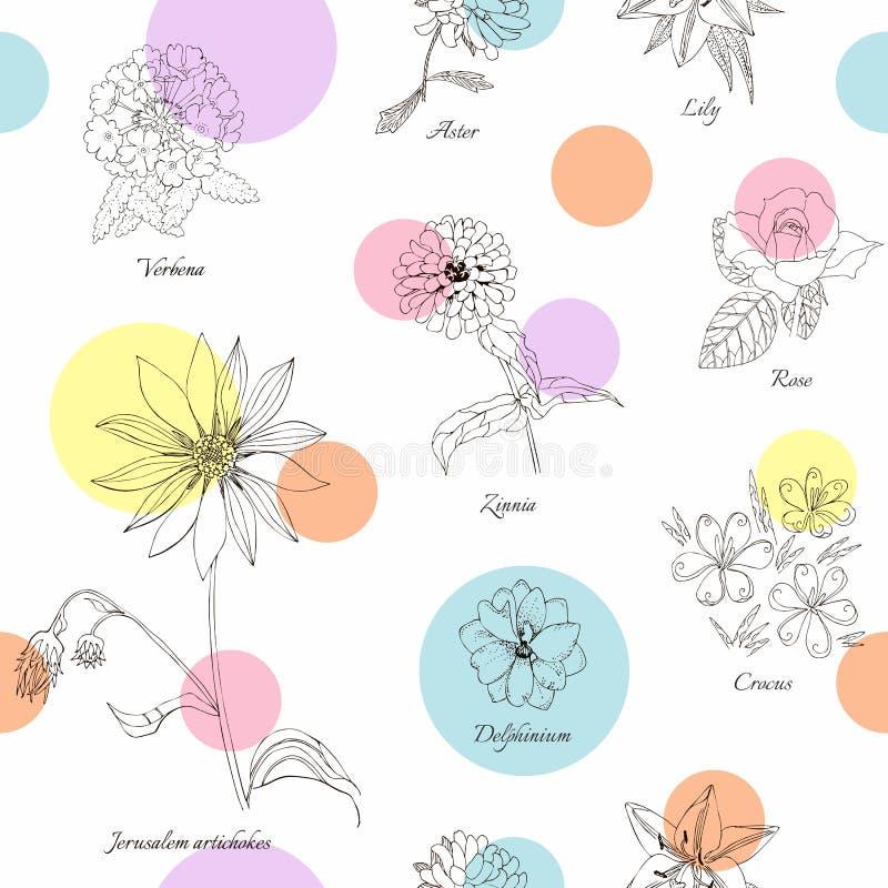 Leuk bloemen naadloos patroon royalty-vrije illustratie