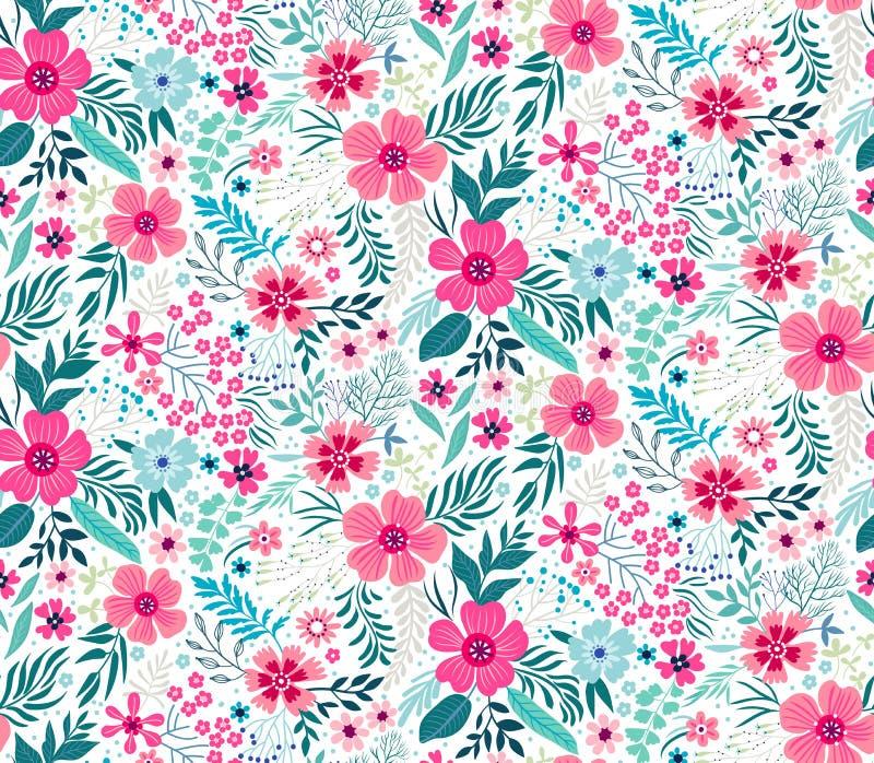 Leuk bloemenpatroon stock illustratie