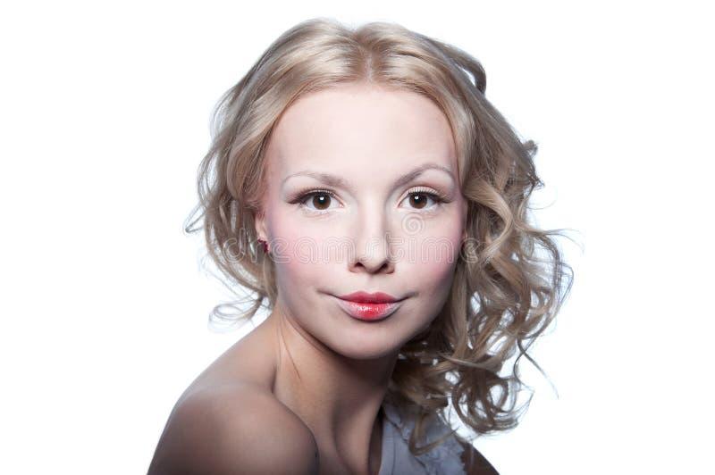 Leuk blond meisje royalty-vrije stock foto's