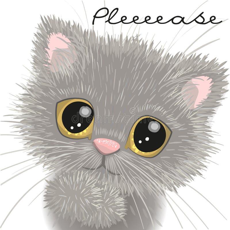 Leuk Brits Katje stock illustratie