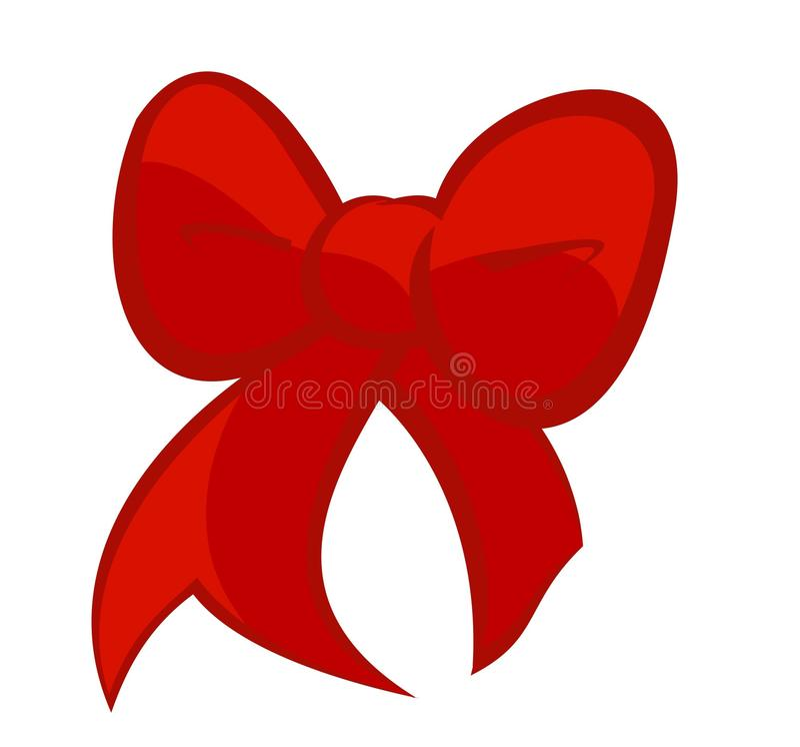 Leuk Cherry Red Bow royalty-vrije stock afbeeldingen