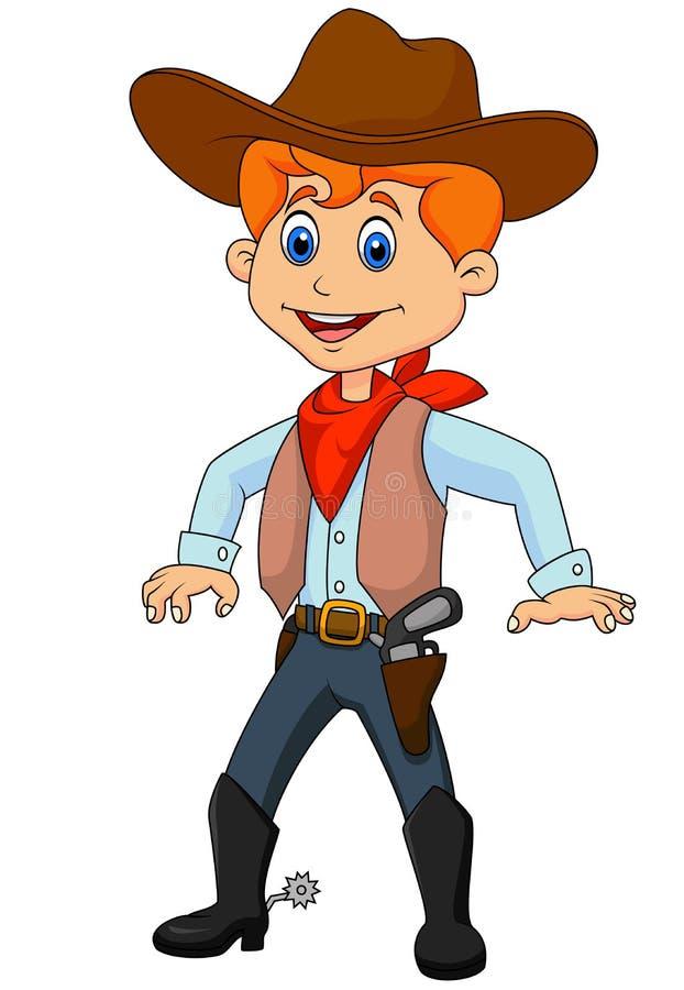 Leuk cowboybeeldverhaal vector illustratie