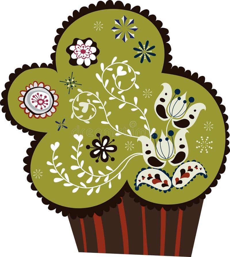 leuk cupcakeontwerp stock illustratie