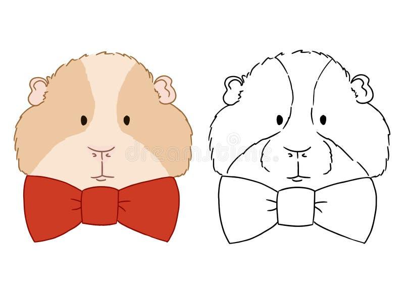 Leuk die het karakterpictogram van het proefkonijnbeeldverhaal op wit wordt ge?soleerd De fauna wild dier van Zuid-Amerika Vector royalty-vrije illustratie