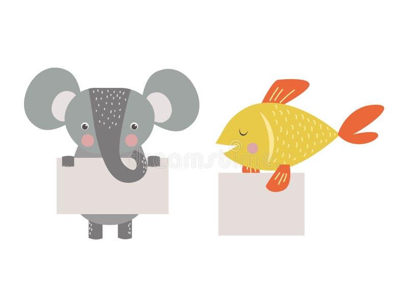 Leuk dieren vectorkarakter royalty-vrije illustratie