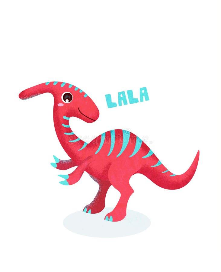 Leuk dinosaurusbeeldverhaal royalty-vrije illustratie