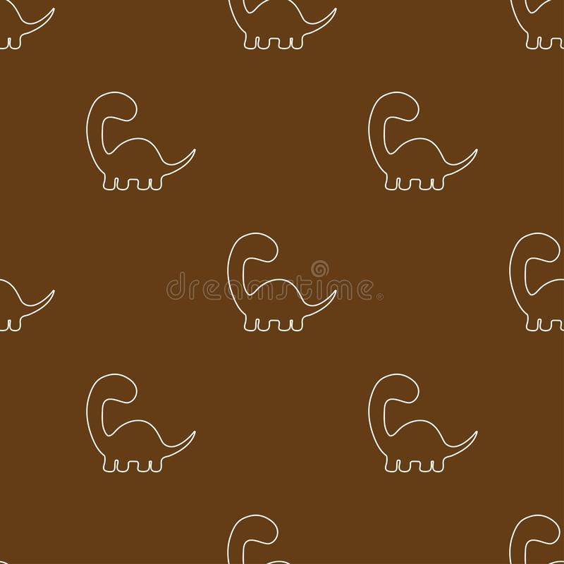 Leuk dinosaurussenpatroon stock illustratie