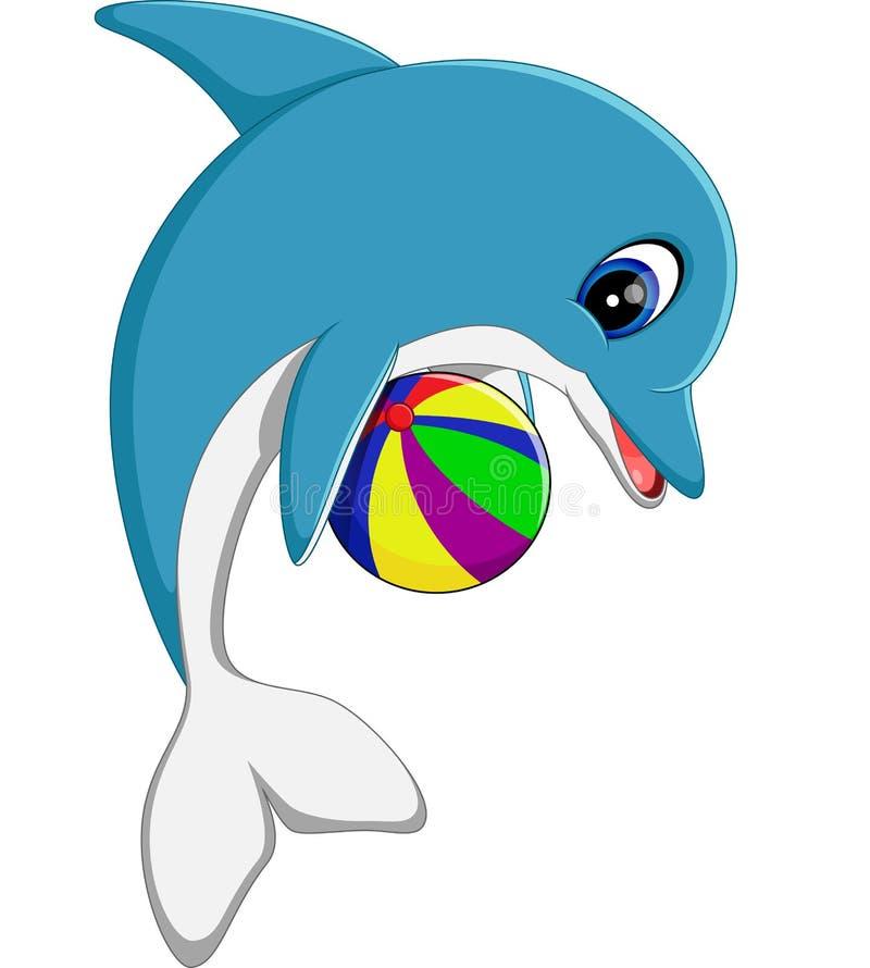 Leuk dolfijnbeeldverhaal stock illustratie