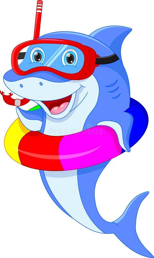 Leuk dolfijnbeeldverhaal royalty-vrije illustratie