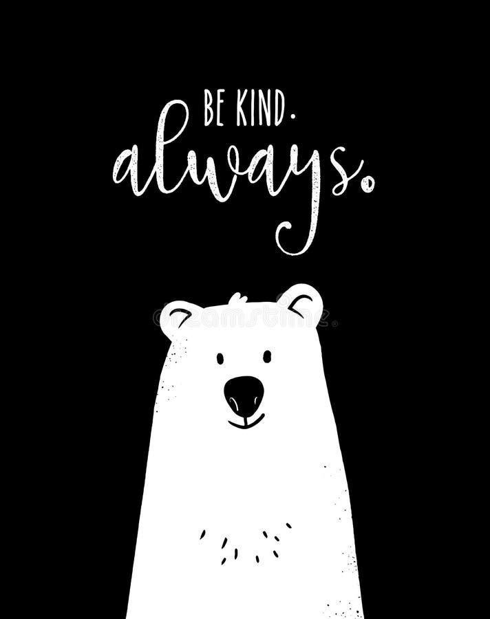 Leuk draag met motieven 'vriendelijk is Altijd ' royalty-vrije illustratie