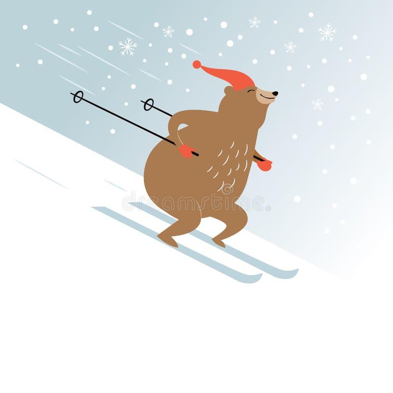 Leuk draag ski?t stock illustratie