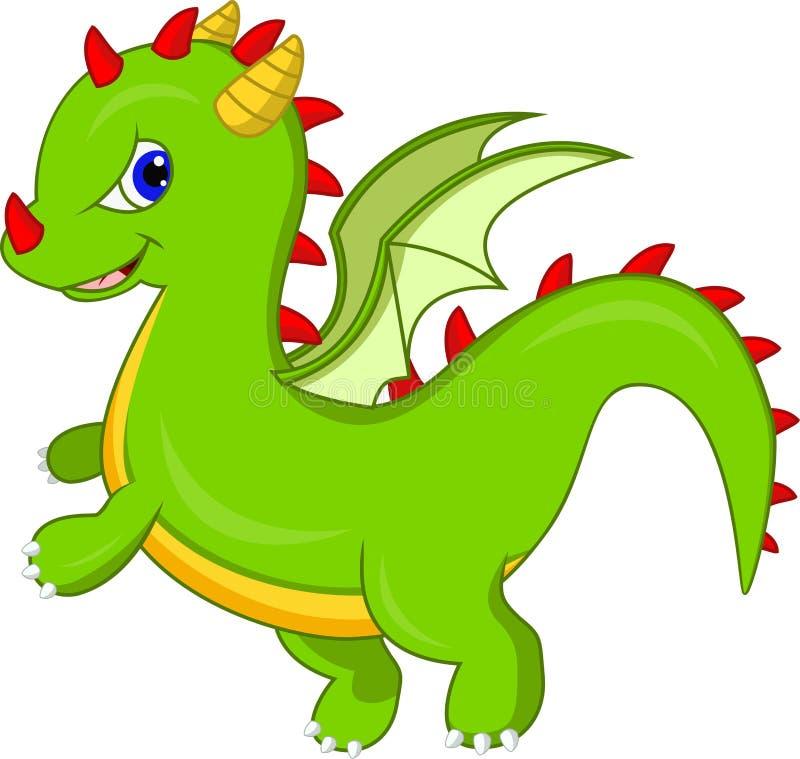 Leuk draakbeeldverhaal stock illustratie