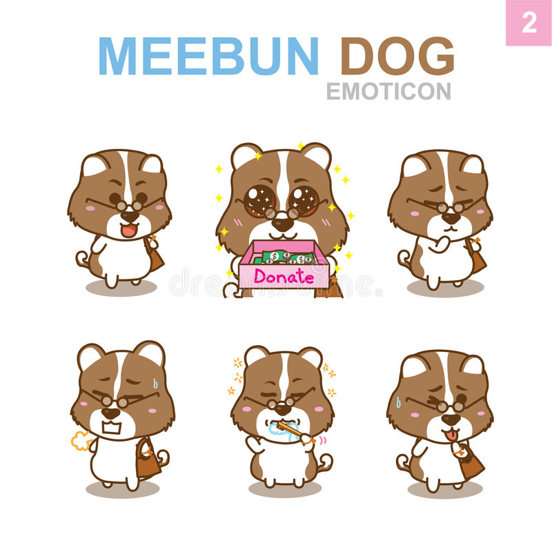 Leuk Emoticon-Ontwerp - Hondreeks stock afbeeldingen
