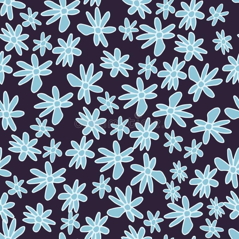 Leuk en in bloemen vectorpatroon met tulpen, papaverbloemen en bessen stock fotografie
