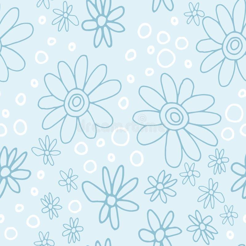 Leuk en in bloemenpatroon met tulpen, papaverbloemen en bessen royalty-vrije stock foto's