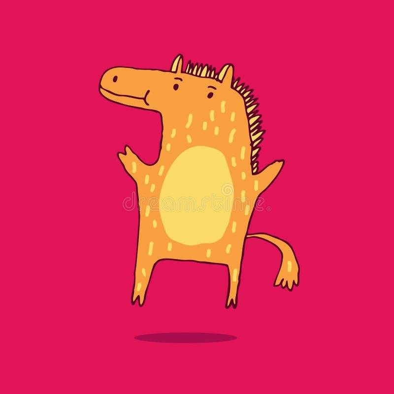 Leuk en grappig paard vector illustratie