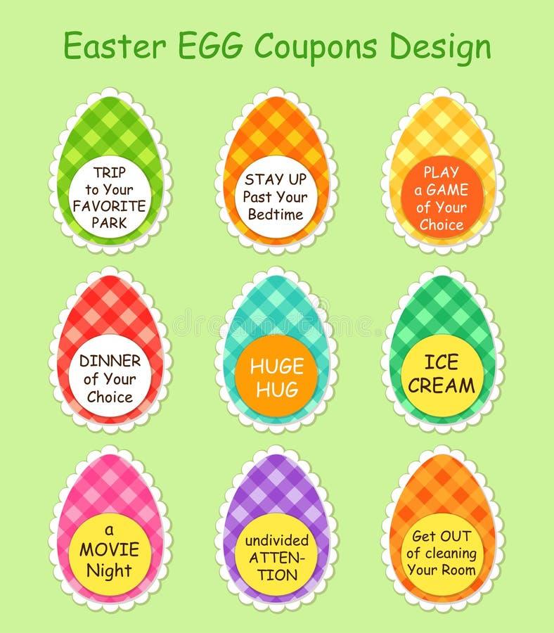 Leuk en helder Pasen-de couponsontwerp van het Jachtei stock illustratie