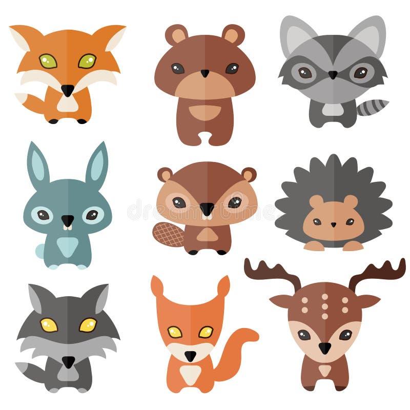 Leuk Forest Animals vector illustratie
