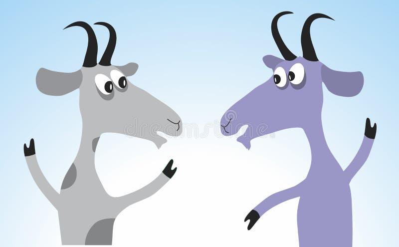 Leuk geitbeeldverhaal vector illustratie