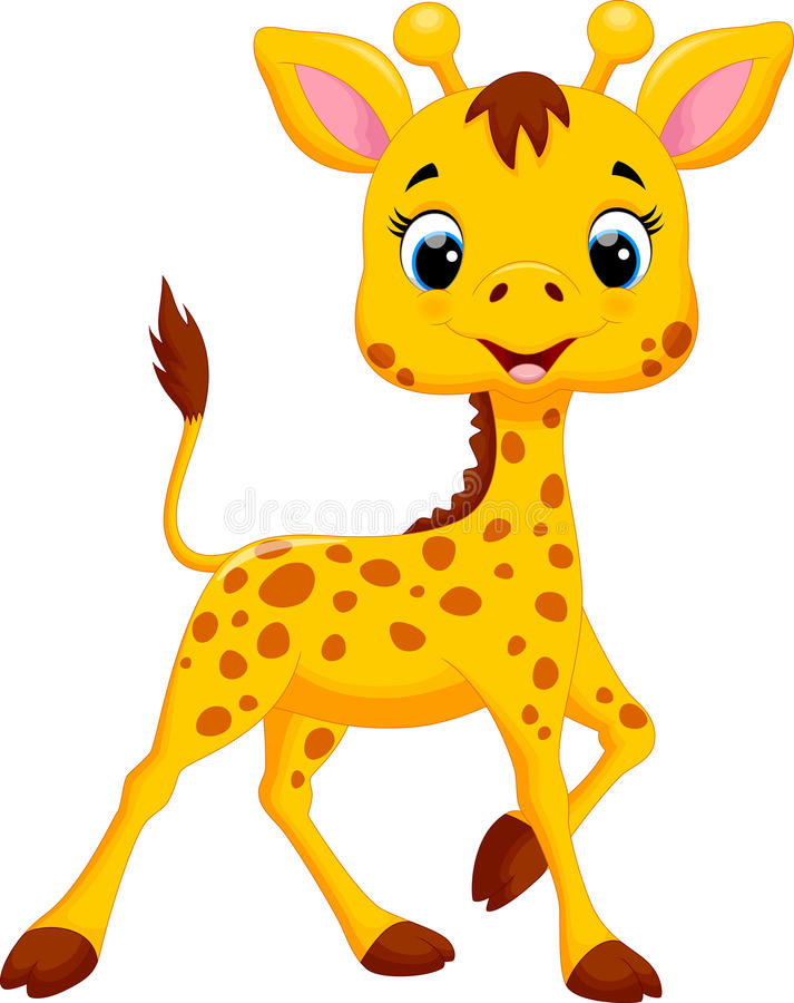 Leuk girafbeeldverhaal royalty-vrije illustratie