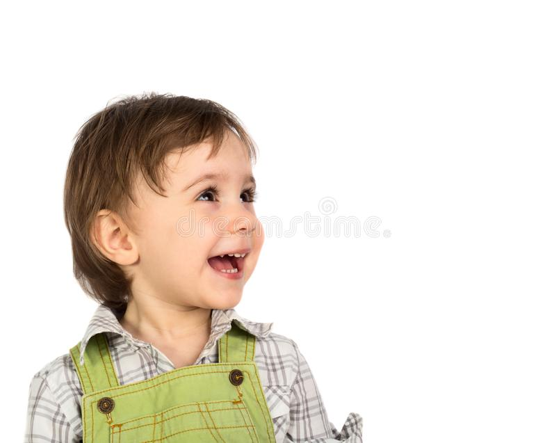 Leuk glimlachend babymeisje royalty-vrije stock foto's