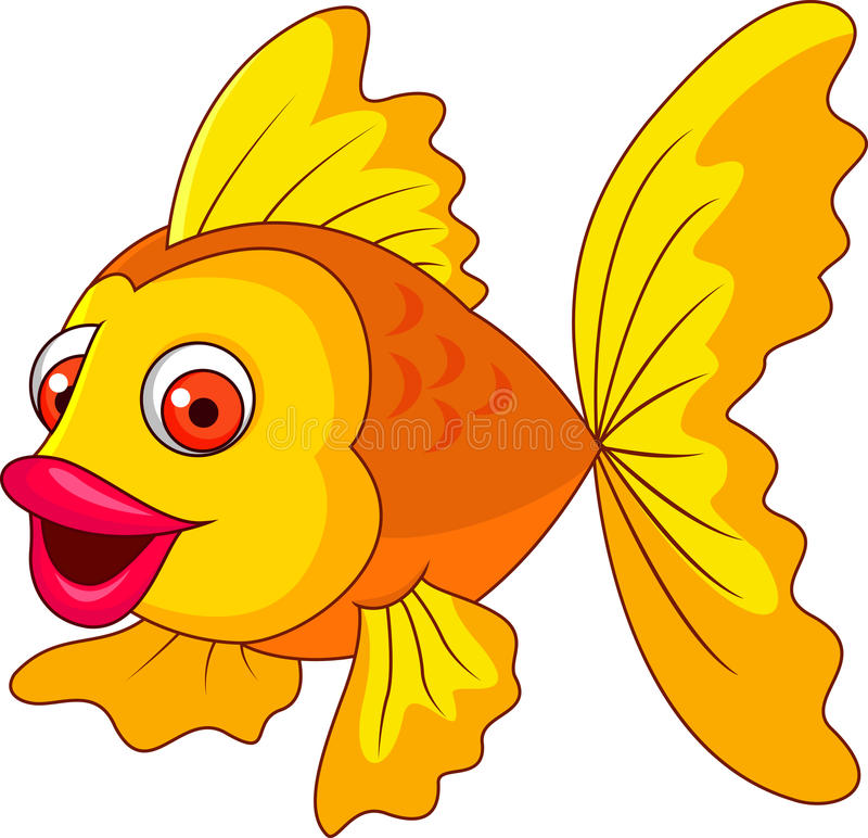 Leuk gouden vissenbeeldverhaal stock illustratie