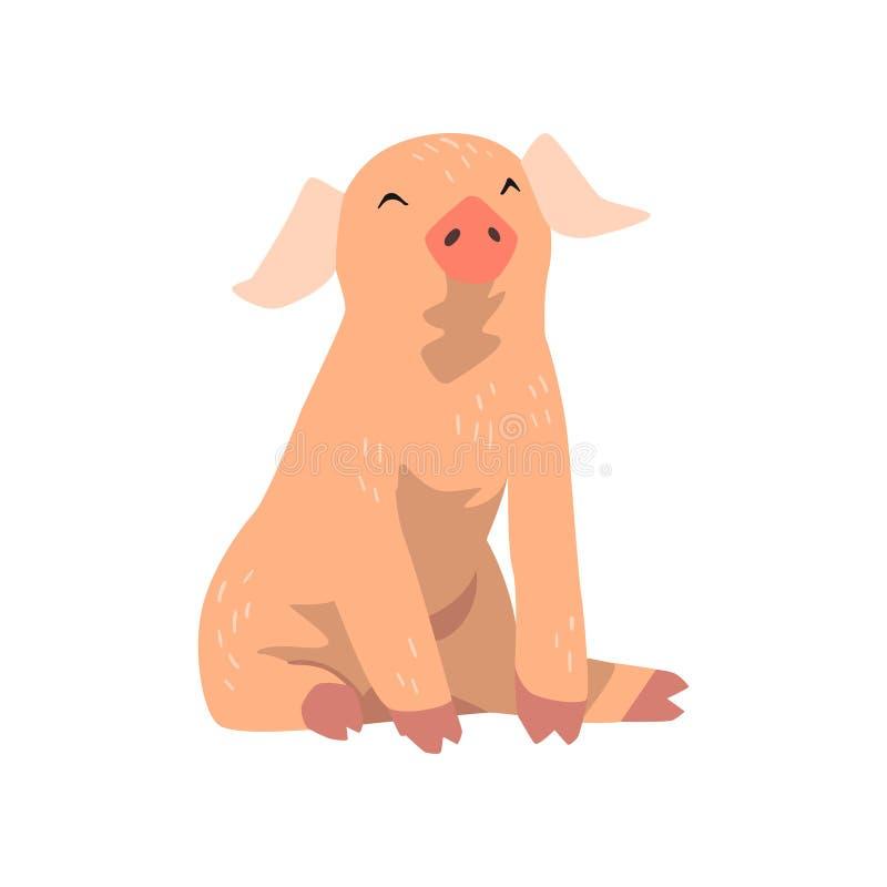 Leuk grappig beeldverhaal weinig varkens vectorillustratie op een witte achtergrond vector illustratie