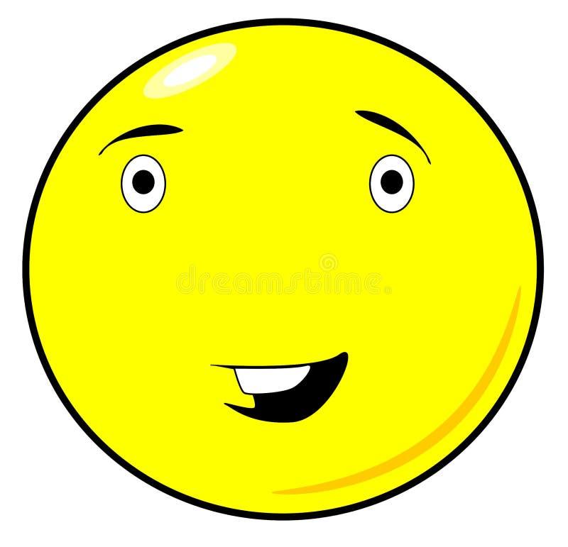 Leuk, Grappig Geel Smiley-de Roosterontwerp van Gezichtspng vector illustratie