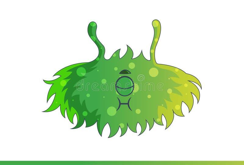 Leuk groen Geërgerd monster royalty-vrije illustratie