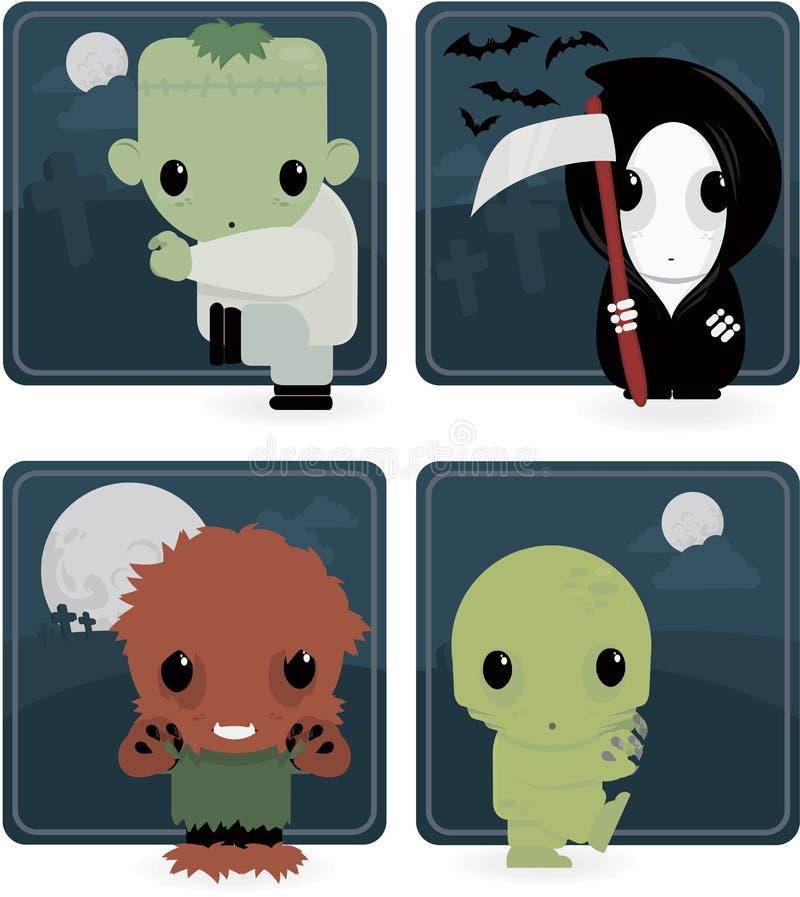 Leuk Halloween stock illustratie