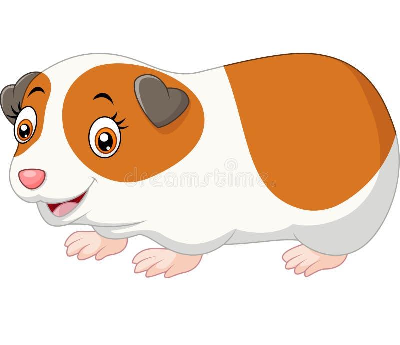 Leuk hamsterbeeldverhaal stock illustratie