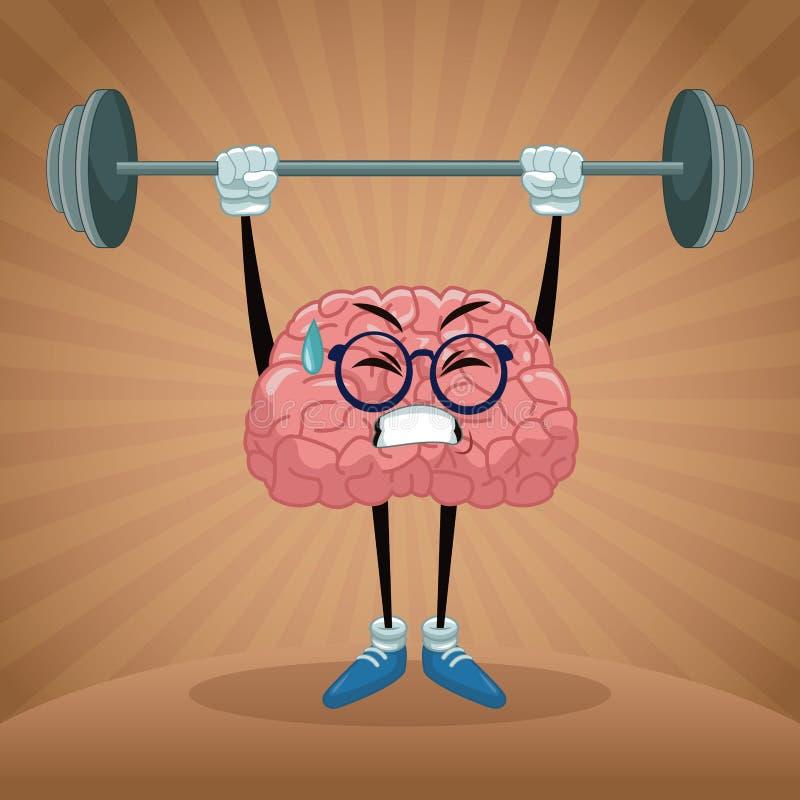 Leuk hersenenbeeldverhaal stock illustratie